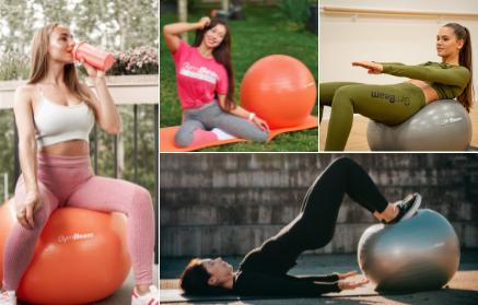 10 účinných cviků na břicho a na zadek s fit míčem