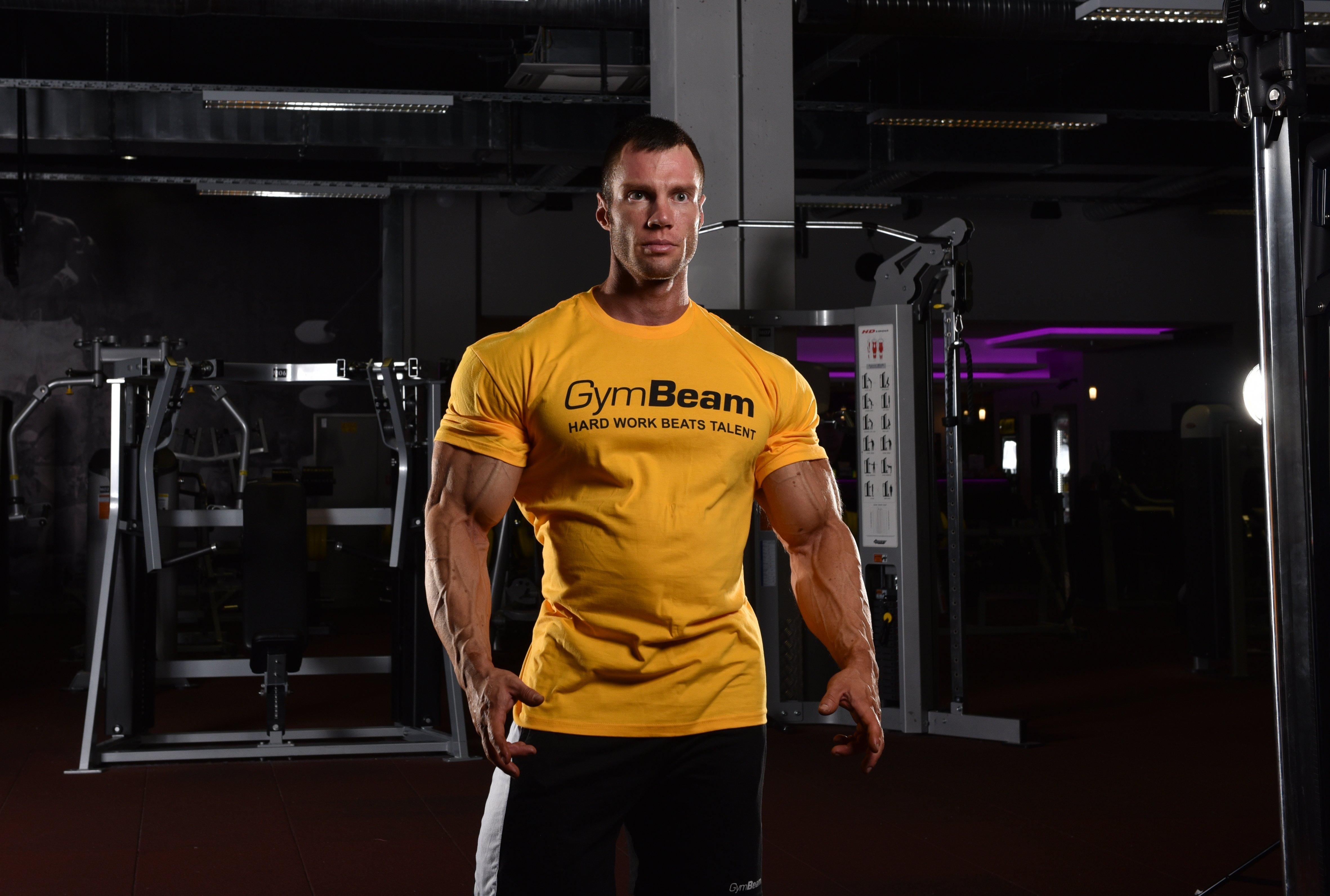 hard work gold tričko na cvičenie