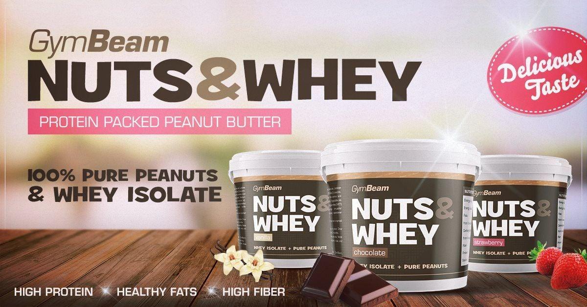 Arašidové maslo Nuts & Whey GymBeam