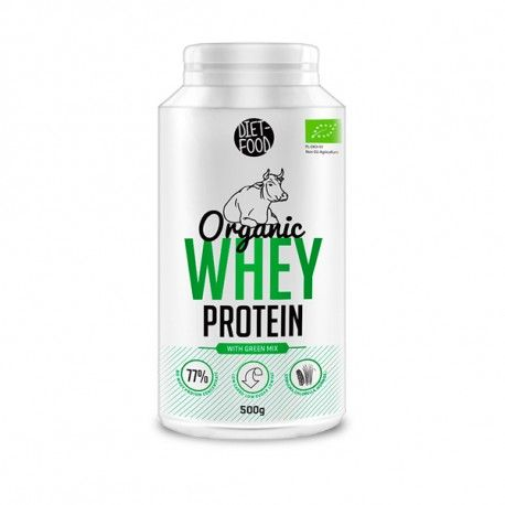 organic whey protein with green mix 500 g diet food