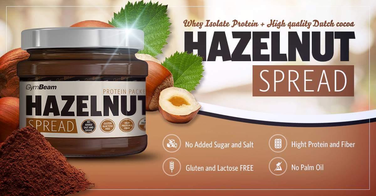 hazelnut spread gymbeam - unt proteic din alune
